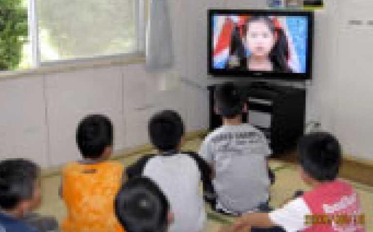 テレビ寄贈(児童養護施設仁風学園)
